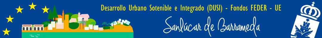 Logotipo cabecera EDUSI Fondos FEDER Sanlúcar de Barrameda
