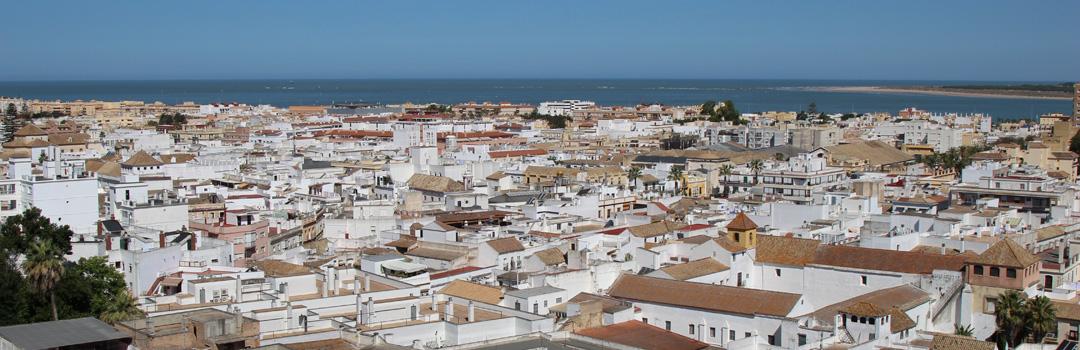 Vista aérea de Sanlúcar y el Guadalquivir